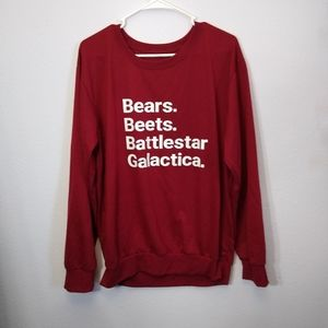 Bears. Beets. Battlestar Galactica shirt